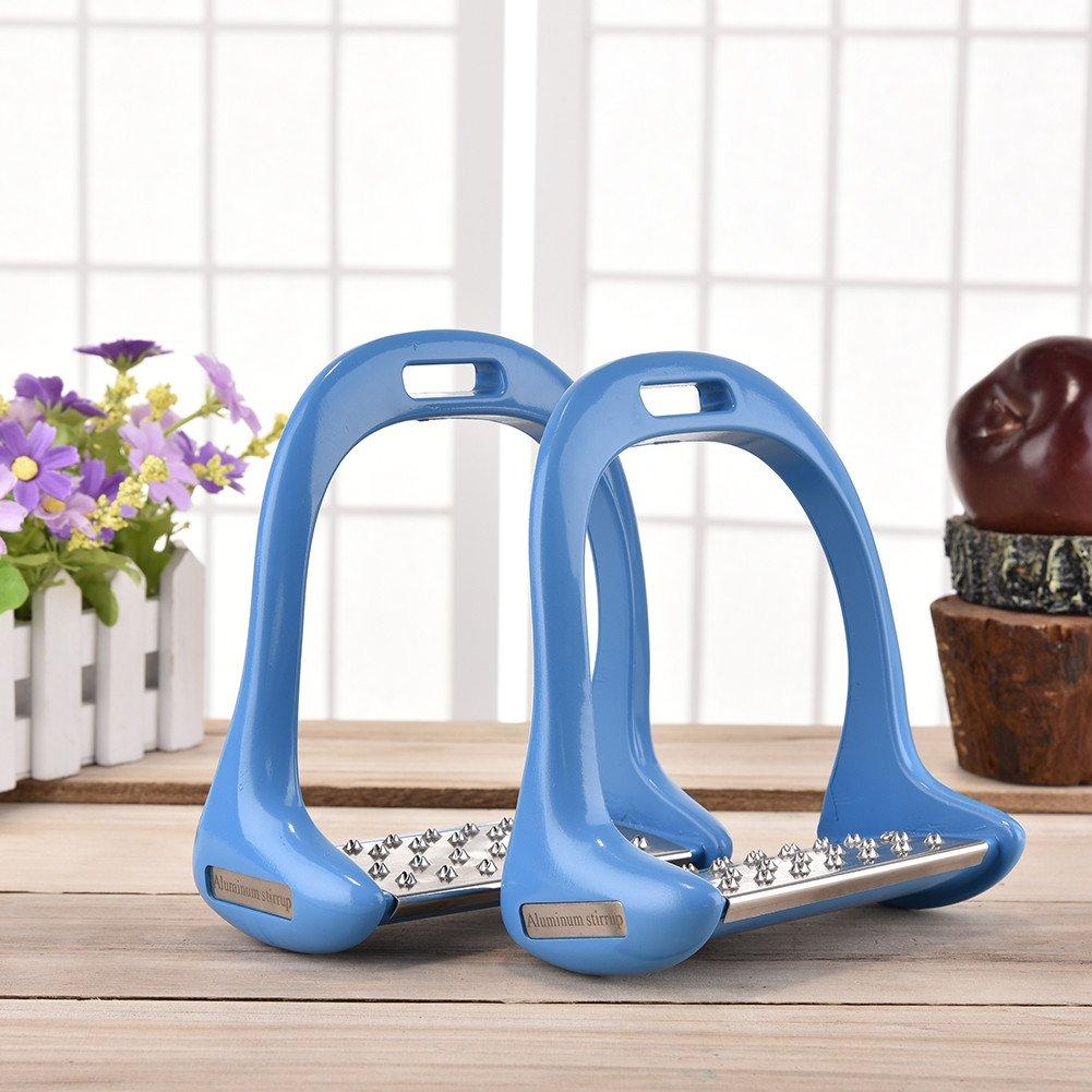 Bleu Su-luoyu 2 PCS /Étrier Acier inoxydable Antid/érapant Flexible 2 Couleurs au choix