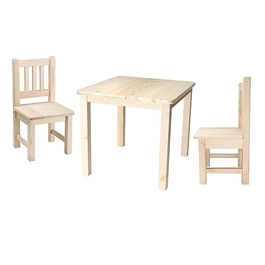 Mut Kindersitzgruppe 1x Kindertisch 2x Kinderstuhl Massivholz
