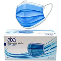aba Cubrebocas Termosellados de 3 Capas | Calidad Premium Caja 50 Piezas | by aba Products