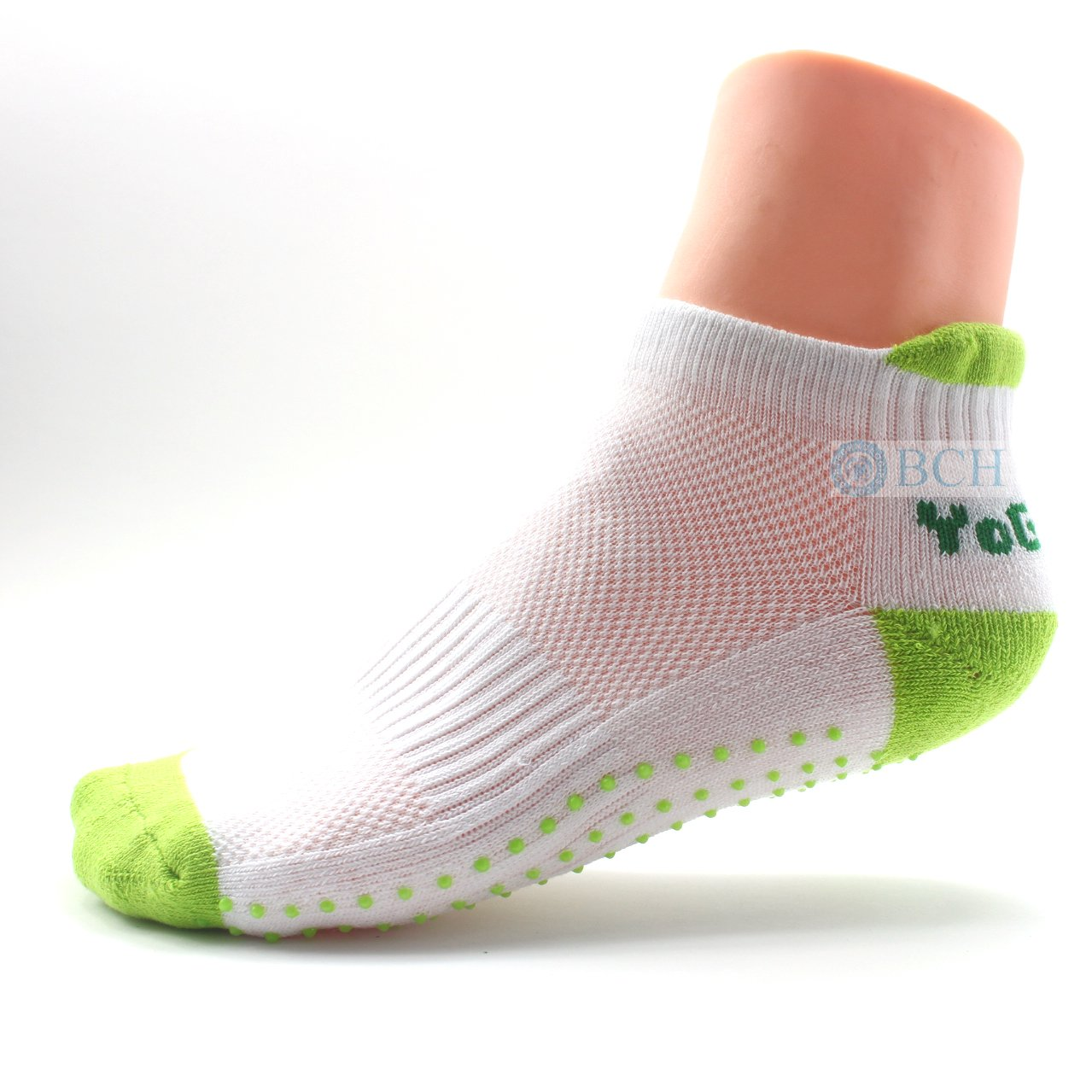 BCH® Premium Non-Slip Excercise Socks for Yoga, Palates, Barre, Ballet Barre (Green) BCH Technologies