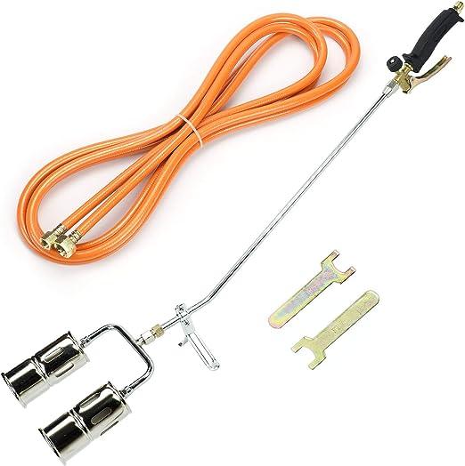 Zunate Gasbrenner einstellbare elektronische Z/ündschwei/ßpistole f/ür den Au/ßengrill L/öten des Flammenwerfer-Spr/ühbrenners bis 1500 ℃ tragbarer Flammenbrenner