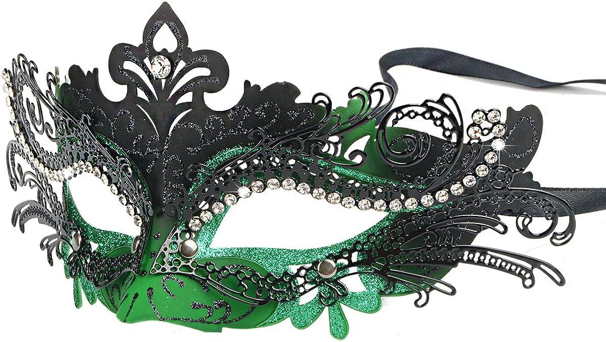 Masquerade Masked Ball Curved Eye Mask Venetian Carnival Mardi Gras
