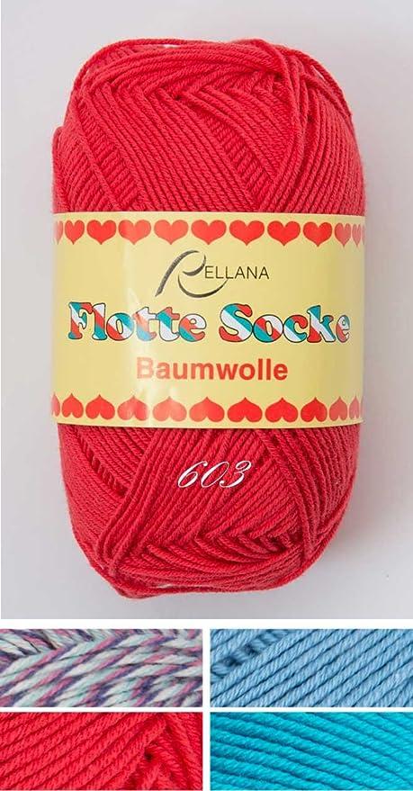 De la manera de la lana para calcetines adonia de flota de calcetín m, de algodón de 4-fishingline de 50 G, caja de envío como DHL-paquete: Amazon.es: Hogar