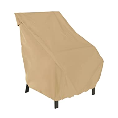 Classic Accessories Terrazzo High Back Patio Chair Cover - All Weather Protection Outdoor Furniture Cover (58932-EC)