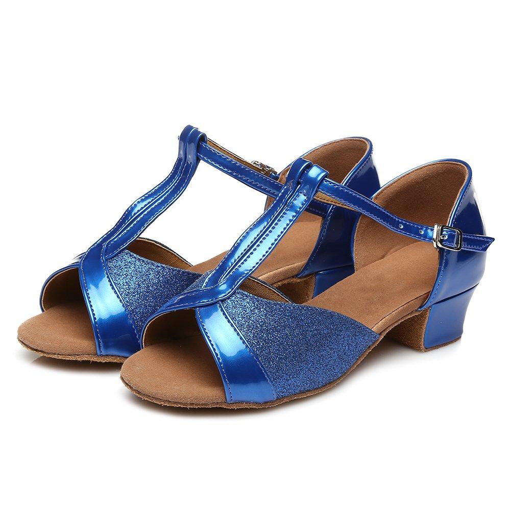84f4bc0a HROYL Niñas Zapatos de Baile/Zapatillas de Baile Latino estándar de satín  Salón de Baile E-305: Amazon.es: Zapatos y complementos