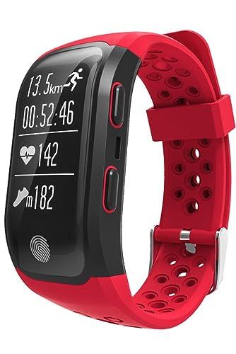 GPS reloj deportivo impermeable Fitness actividad Tracker Bluetooth ritmo cardíaco pulsera inteligente: Amazon.es: Relojes