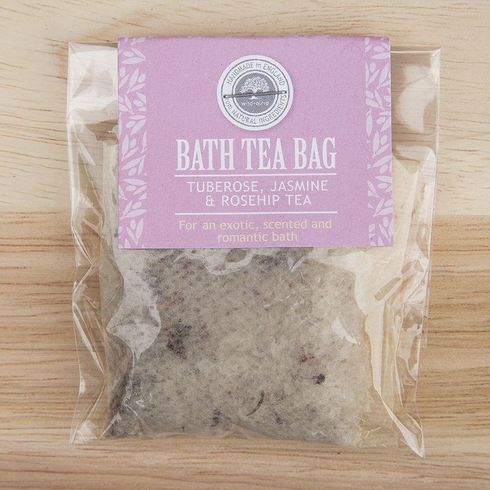 Bath Tea Bag (Tuberose Jasmine and Rosehip) by Wild-Olive Ltd TGO