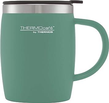 ThermoCaf Plastique et Acier Inoxydable Bureau//Tasse de voyage 450 ml-Rouge