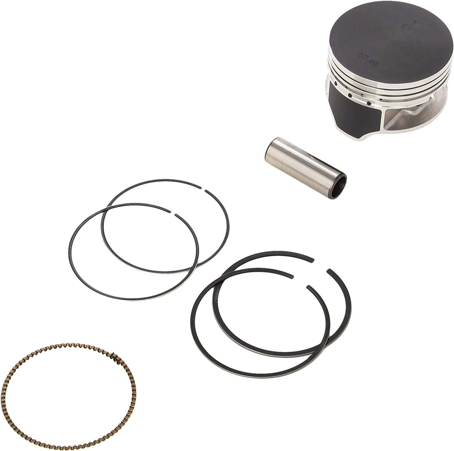 Namura 67.47mm Diameter Piston Kit NA-30000-6