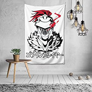 chengdouyixinhongyeshangmaoyouxiangongsi Goblin Slayer 3D Printed High-Definition Custom Pattern Tapestry,House Creative Fashion Decorative Wall Hanging,Super Soft and Does Not Fade