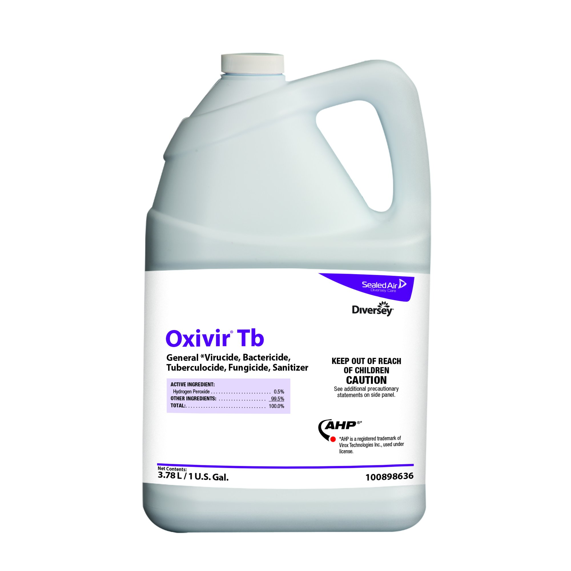 Diversey Oxivir Tb - One-Step Disinfectant Cleaner with AHP, 1 Gallon Container (4 Pack)