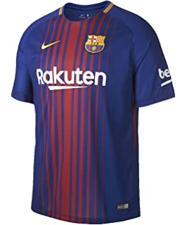 Nike 2017/18 FC Barcelona Stadium Jersey with Sponsor [DEEP ROYAL BLUE]