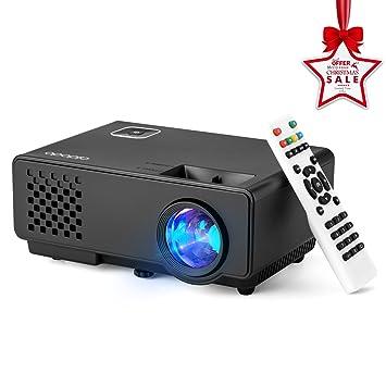 Aidodo Proyector Portatil Mini vídeo proyector,1800 lúmenes ...