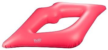 Likalla Aufblasbares Pool Float Lips In Pink Schwimmringschwimmreifen In Lippen Form Für Die Maximal Coole Entspannung Im Pool Kiss The Water
