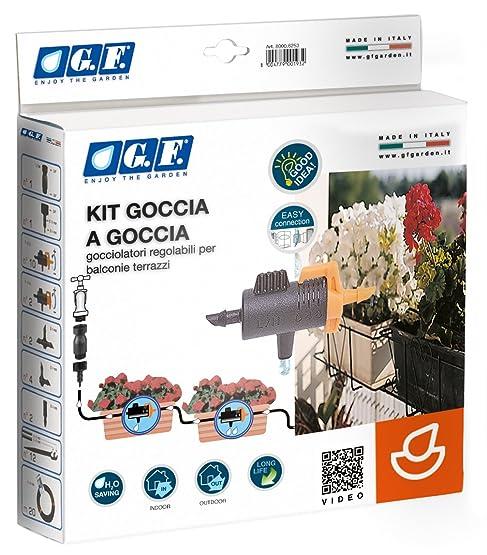 G.F. 8000-6101 Kit Irrigazione Goccia, 12 Vasi, Assortimento ...