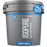Isopure Zero Carb, Keto Friendly Protein Powder, 100% Whey Protein Isolate, Flavor: Creamy Vanilla, 7.5 Pounds