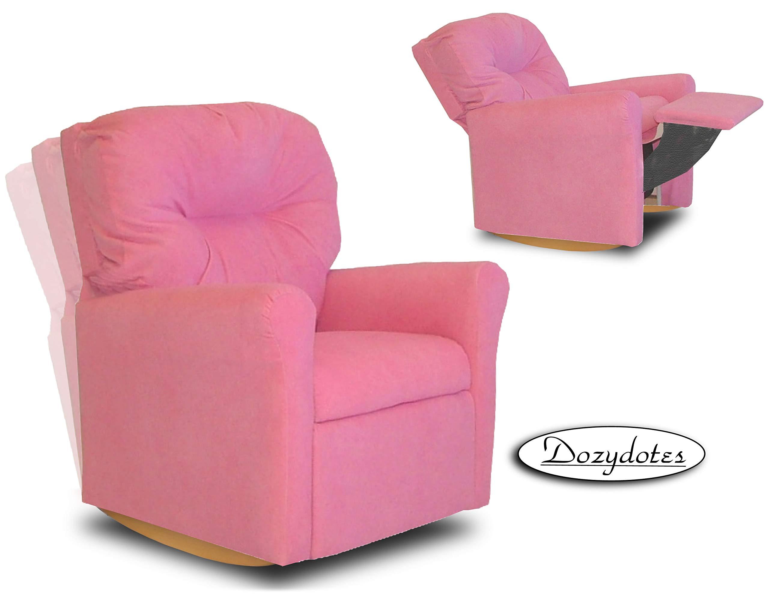 Dozydotes Contemporary Hot Pink Rocker Recliner by Dozydotes
