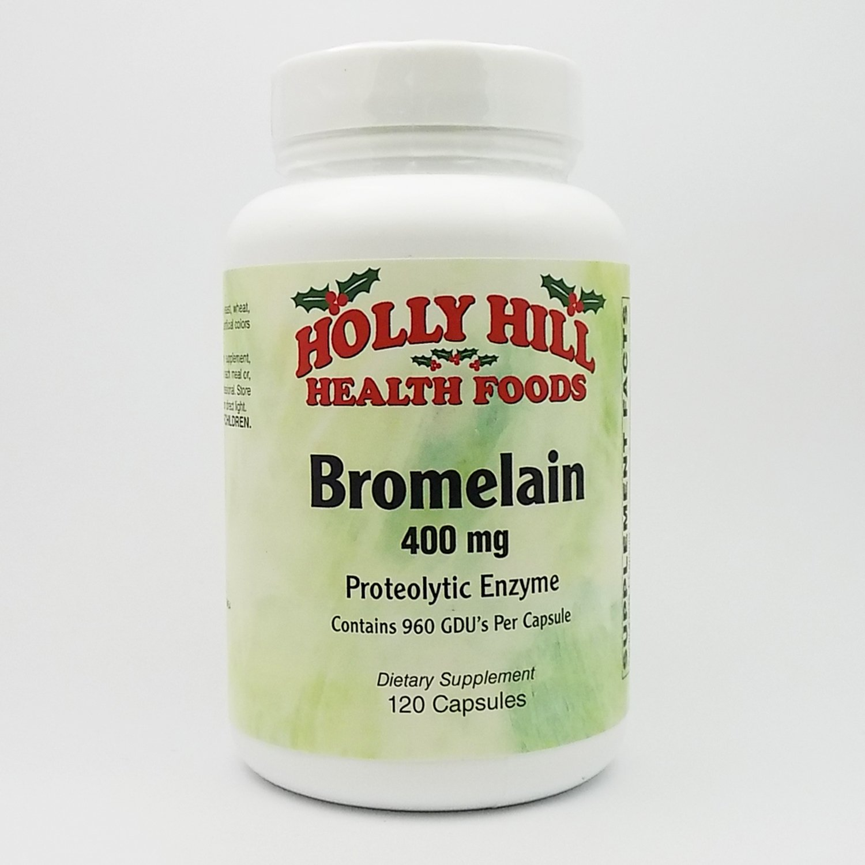 Holly Hill Health Foods, Bromelain 400 MG, 120 Capsules