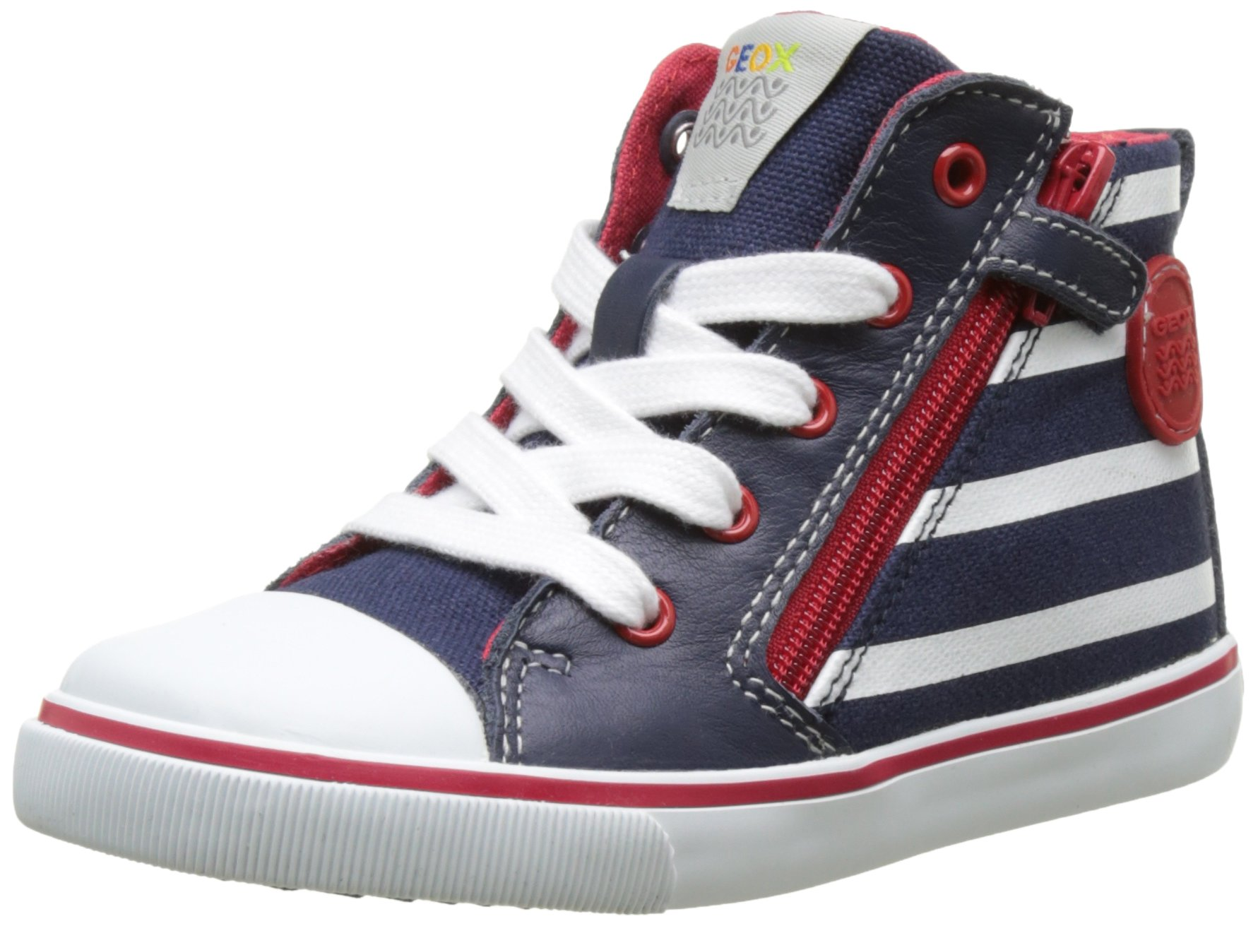 Geox Boys' Baby Kiwiboy 85 Sneaker, Navy/White, 27 BR/10 M US Little Kid