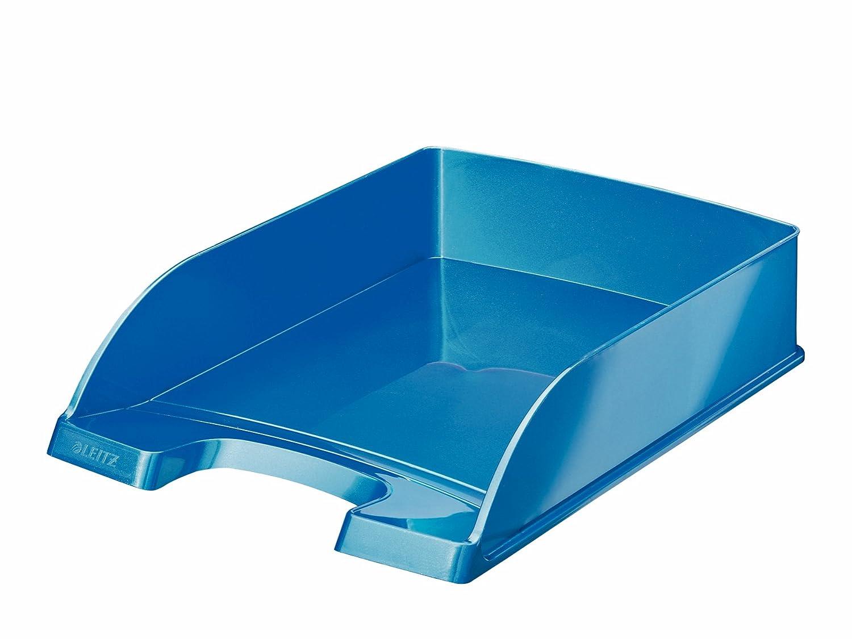 Leitz 52263099-6 Briefkorb WOW A4 blau, eisblau, orange, grün, violett und pink (6 metallic Farben | 6 Stück) grün