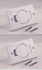2 Standard White Inlet Valves for Beam Central Vacuum
