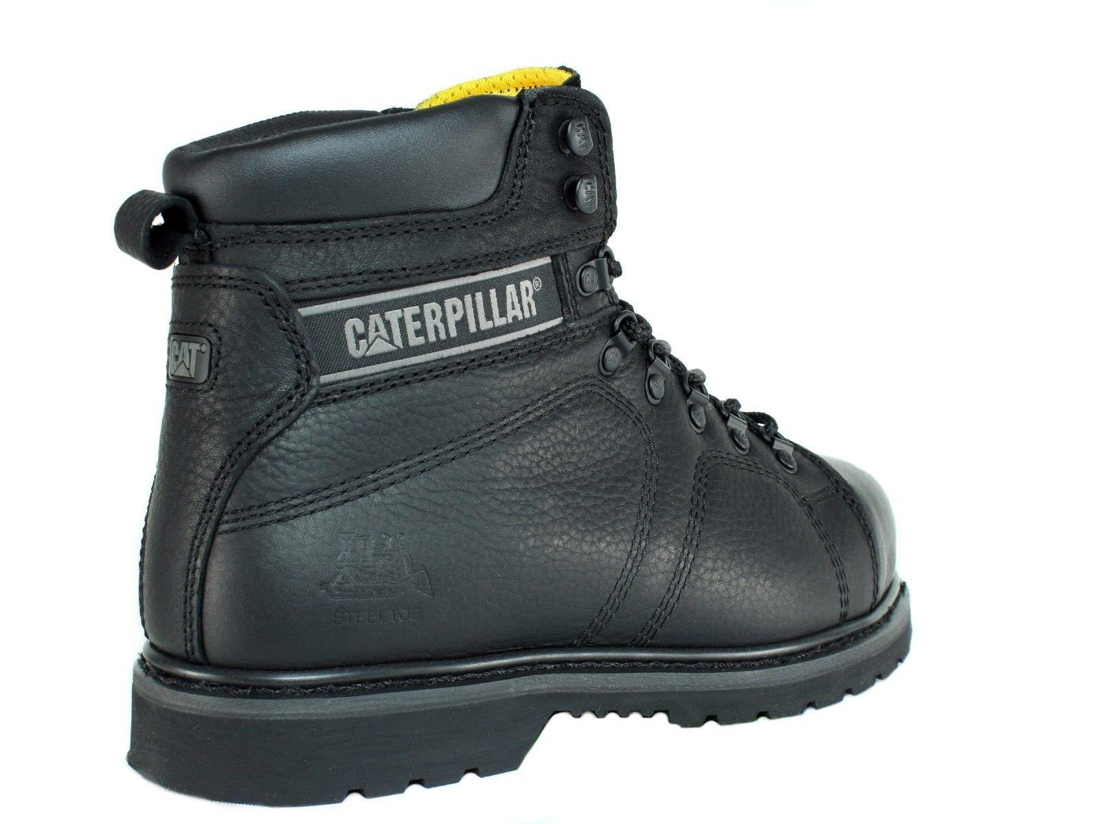 Caterpillar SureGrip Mens Silverton SG Black Slip Resistant Work Boots 12M by Caterpillar (Image #3)