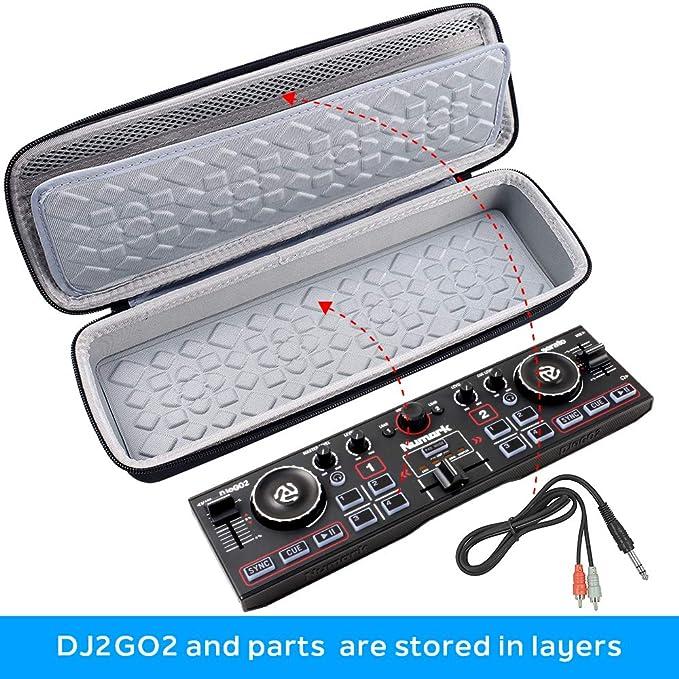 Funda de viaje rígida para Numark DJ2GO2 | Controlador de DJ de bolsillo – Bolsa de almacenamiento protectora: Amazon.es: Instrumentos musicales