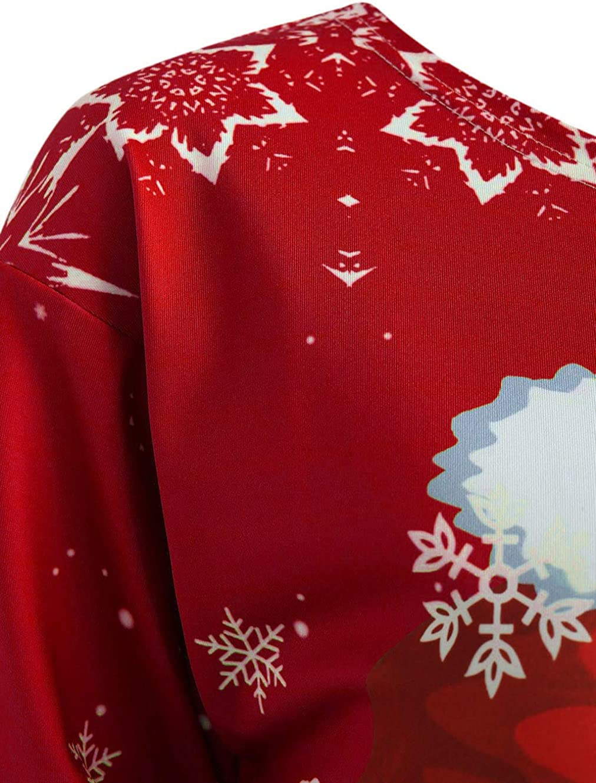 Ghazzi Woman Hoodies for Christmas Long Sleeve Hooded Sweatshirts Pullover Sweaters Hoodie Plus Size Tops Xmas