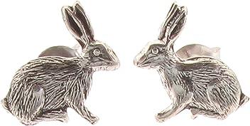 39ecff8d7 Touch Jewellery 925 Sterling Silver Stud Earrings Rabbit/Hare