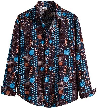 Vintage Striped Button Shirt Men/'s Women/'s Blue White Summer Cotton Shirt Long Sleeve
