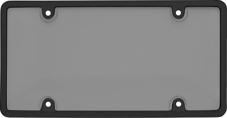 Cruiser Accessories 62520 Ultimate Tuf Combo License Plate Shield//Cover Black//Smoke