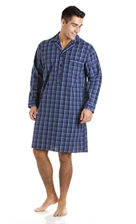 Haigman Pure Cotton Nightshirt 7391 Navy Check M  Amazon.co.uk  Clothing bb15032c6