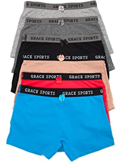 3f00d8977074 Barbra Women's 6 Pack Various Style of Cotton Sports Boy Shorts Panties