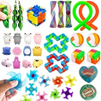 32 Pack Fidget Toys Set, Sensory Toys for Autistic Children and Adults, Kids Party Favors, Carnival Prizes, Treasure Box…