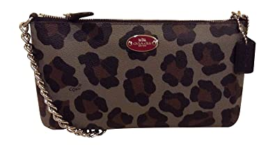 Coach Ocelot Print Quinn Crossbody Grey Multi 35878
