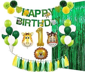 Amazon.com: Kit de decoración de fiesta de primer cumpleaños ...