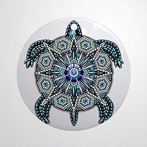 BYRON HOYLE Native American Turtle Round Holiday Christmas Ornament Christmas Ornaments Pandemic Xmas Decor Wedding Ornament Holiday Present