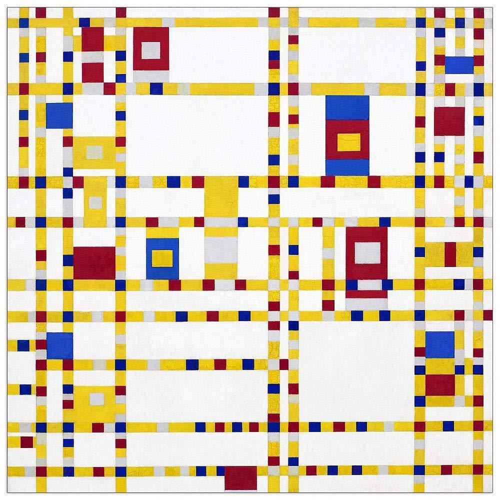 ArtPlaza TW92390 Piet Mondrian - Broadway Boogie Woogie Decorative Panel 15.5x15.5 Inch Multicolored