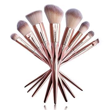 Amazon.com: UCANBE Professional Makeup Brushes Rose Gold Makeup Foundation Blush Concelaer Contouring Eye Shadow Brush Kits: Beauty
