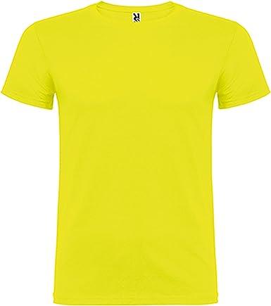 Camiseta de Manga Corta, de Cuello Redondo Roly: Amazon.es: Ropa y ...