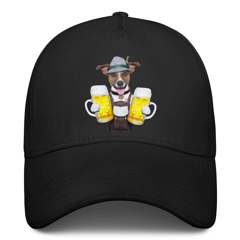 Oktoberfest Terrier Dog Beer Hat Unisex Baseball Cap Polyester Sport Caps Adjustable Trucker Caps Dad-Hat
