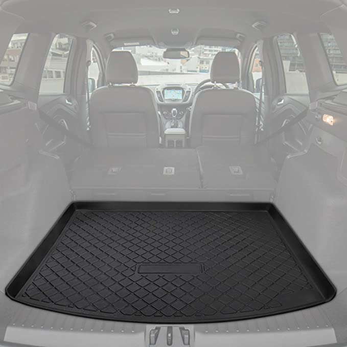 Aiqiying Cargo Liners,Black Heavy Duty/Rubber Waterproof Rear Cargo Tray Trunk Floor Mat Protector Custom Fit/for 2012 2013 2014 2015 2016 2017 2018 2019 Jeep Grand Cherokee