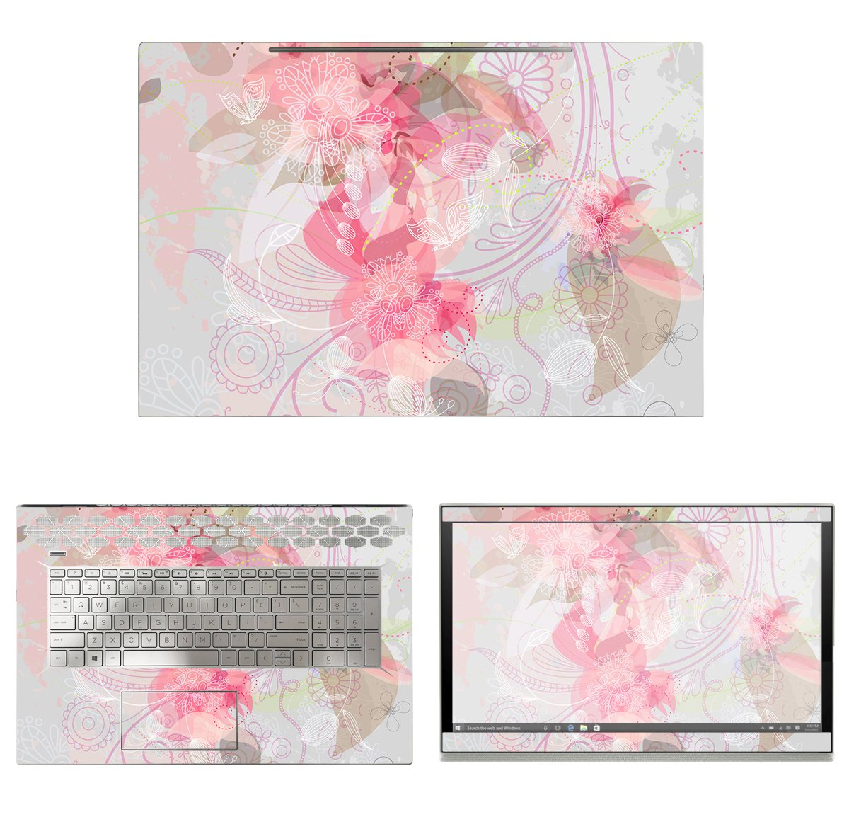 decalrus - Protective Decal Floral Skin Sticker for HP ENVY 17M-BW0013DX (17.3'' Screen) case cover wrap HPenvy17m_bw0013dx-171