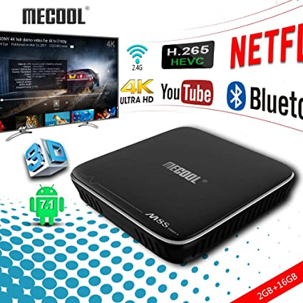 Smart TV Box, Mecool M8S PRO W Android 7 1 TV Boxsets 2GB + 16GB, Amlogic  S-905W Mali-450 Penta Core GPU TV Box TF Card Support with 4K HDTV WIFI OTA
