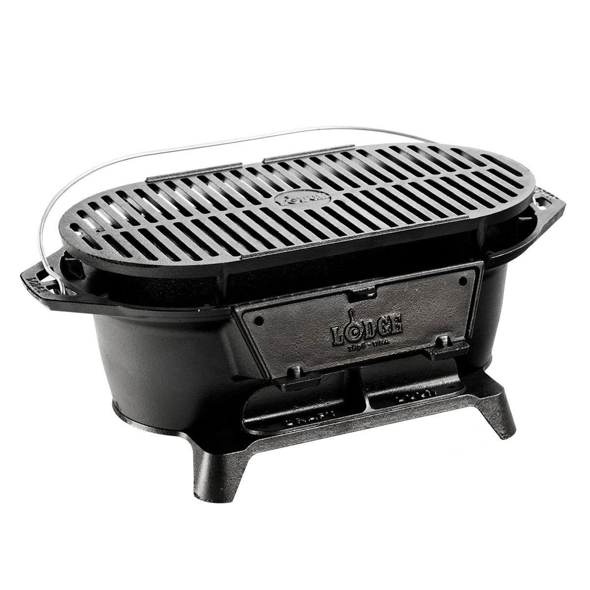 Amazon.com : Premium Bbq Grill For Cooking Charcoal Portable Flat Top For  Outdoor Patio Camping Or Backyard In Cast Iron Small Tabletop Design :  Garden U0026 ...