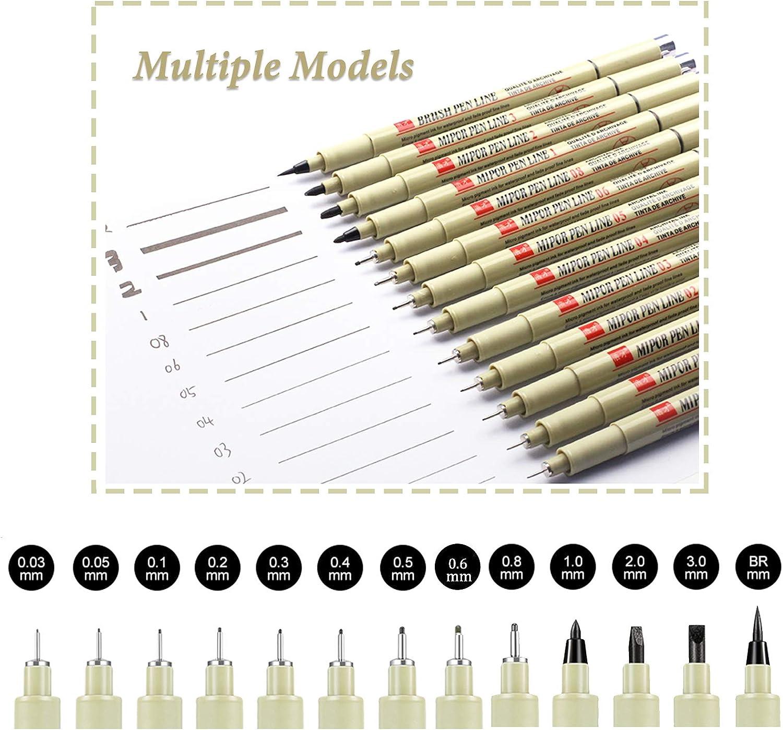 gaixample.org 13 Pcs Fineliner Pens Black Liner Pens Johiux Fine ...