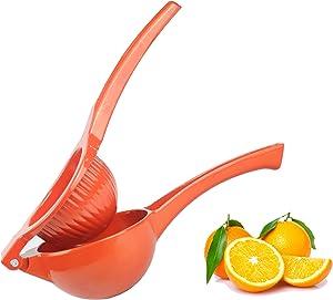 Large Manual Juicer Handheld Fresh Juice Squeezer Heavy Duty Metal Extractor Citrus Fruit Hand Held Press Presser Reamer No Seed Pulp Drink Home Restaurant Bar Kitchen Tools for Lemon Orange Lime