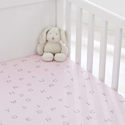 Crib Pink Stars 100/% Cotton Silentnight safe Nights Fitted Sheets x 2