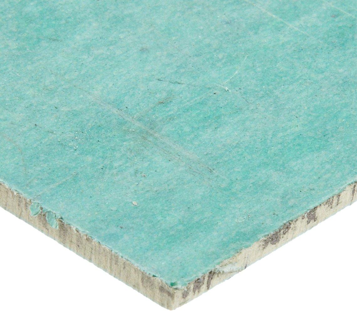 Aramid/Buna-N Sheet Gasket, Green, 1/16'' Thick, 15'' × 15'' (Pack of 1) by Small Parts