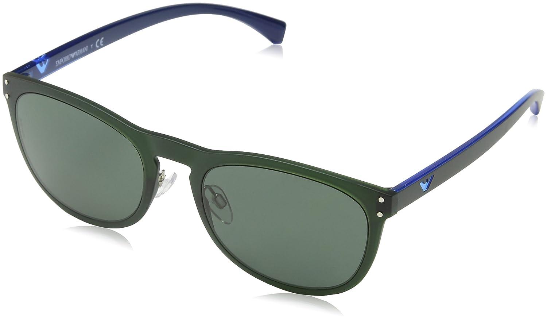 9a55c8816557 Sunglasses Emporio Armani EA 4098 556471 MATTE TRANSP MILITARY GREEN at  Amazon Men's Clothing store: